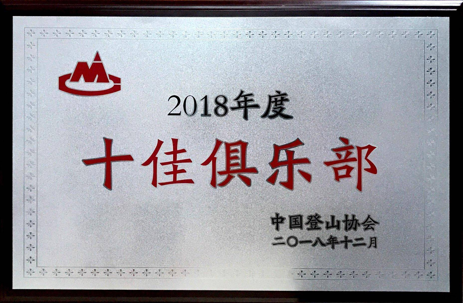 2018年度十佳俱乐部