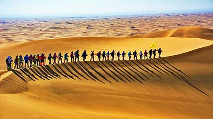 沙漠徒步--腾格里沙漠四日挑战穿越