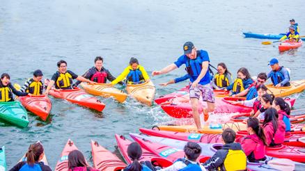 水上主题团建--皮划艇竞速、漂流、趣味水上扁带,戏水团建